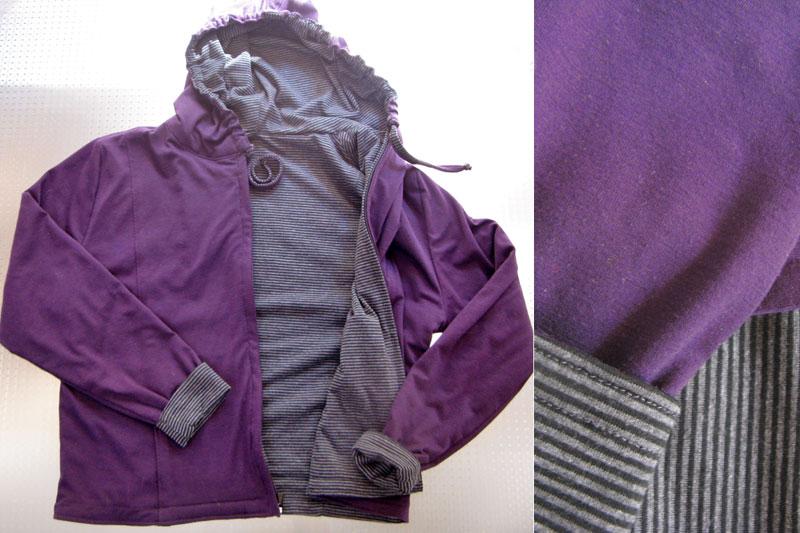 Paarse en grijze hoodie, purple and grey hoodie